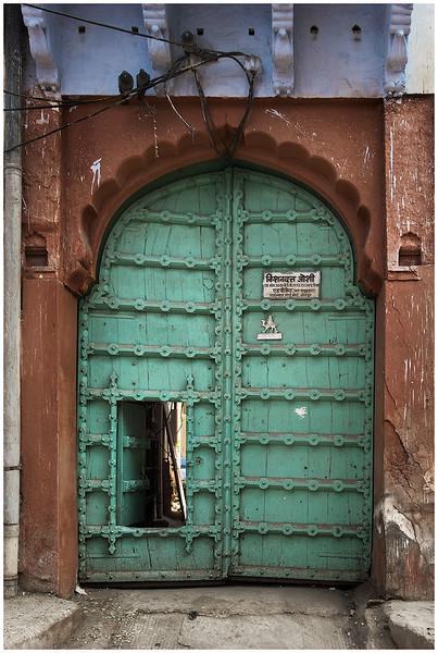 Typical Jodhpur House Gate