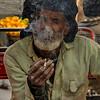 Rickshaw rider taking a smoke break