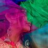 Woman in veils