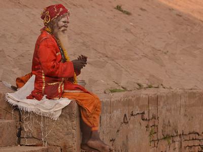 resting sadhu