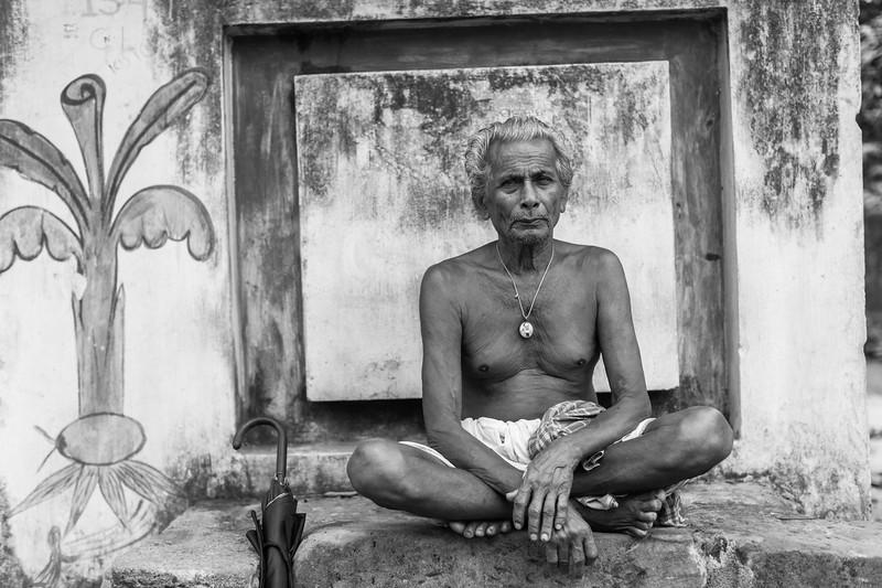 Local Man outside Brahmeswar Mandir, Bhubaneswar