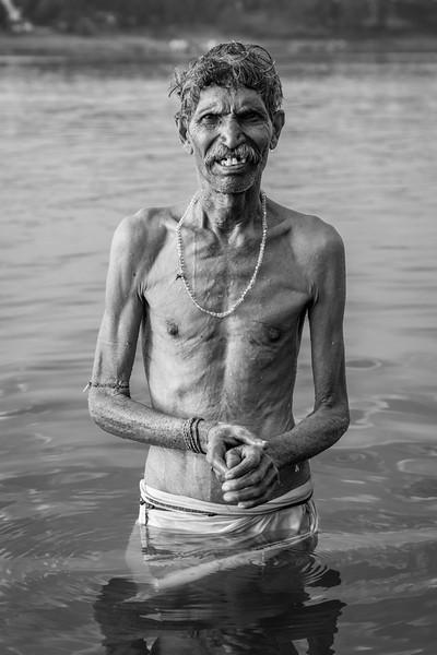 Local Man in the Narmada, Maheshwar, Madhya Pradesh