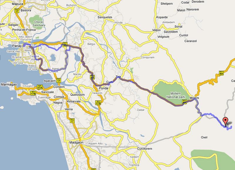 Dit is de route die we deze zondag hebben gevolgd.