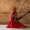 Ravanhatta musician, Gwalior Fort, Madhya Pradesh, India
