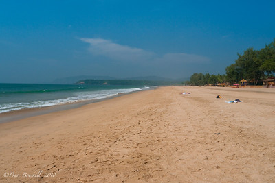 Beautiful sand at Patnem Beach, Goa, India