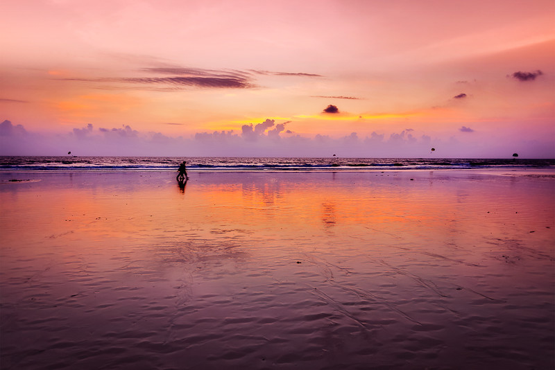 Romantic sunset,  Goa, India