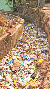 Some of the trash in India…. Anjuna