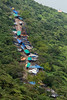 The pilgrim path up Pavagadh Hill, Gujarat State, India