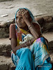 """Old woman resting on stairs, Pavagadh Hill, Gujurat, India<br /> <br /> Happy Thanksgiving to all my US friends; I hope you are enjoying some time off and some Thanksgiving feasting!<br /> <br /> It's a long hard climb up the pilgrim's path on Pavagadh Hill to reach the Kalika Mata temple at the top.  This old woman was sitting on the stairs recovering her energy in the hot humid weather. <br /> <br /> The Kalika Mata (the Black Mother) temple was built in the 10th to 11th century.  It is one of the biggest tourist and pilgrimage centers in Gujarat, attracting large numbers of people every year, and it is traditional to make a pilgrimage here at least once in a lifetime. <br /> <br /> Photos of the Kalika Mata temple, the pilgrim's way, and other portraits, can be seen here: <a href=""""http://goo.gl/WOlozk"""">http://goo.gl/WOlozk</a><br /> <br /> 28/11/13  <a href=""""http://www.allenfotowild.com"""">http://www.allenfotowild.com</a>"""