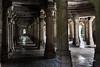 Pillars and mihrabs, Sahar Ki Masjab mosque, Champaner, Gujurat