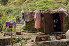 Local house and bathing area, Pavagadh Hill, Gujurat, India (best larger)