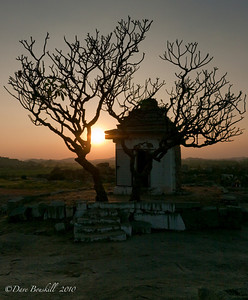 Sunset at the Hampi Ruins in Karnataka, India