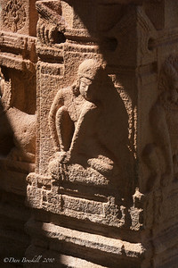 Aspara at the Hampi Ruins in Karnataka, India