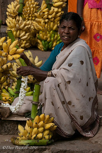 Selling Bananas at the Hampi Ruins in Karnataka India