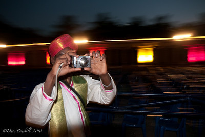 Night photography at the Hampi festival in Karnataka India