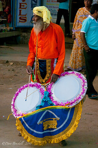 Drummer at the Hampi Festival in Karnataka India