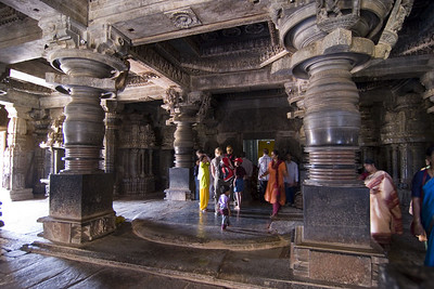 Inside the temple. The circular area where the people are standing is a platform where the temple dancers would have performed. Wouldn't that be amazing to see?