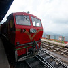 The lovely Shimla-Kalka toy train pulls into the station