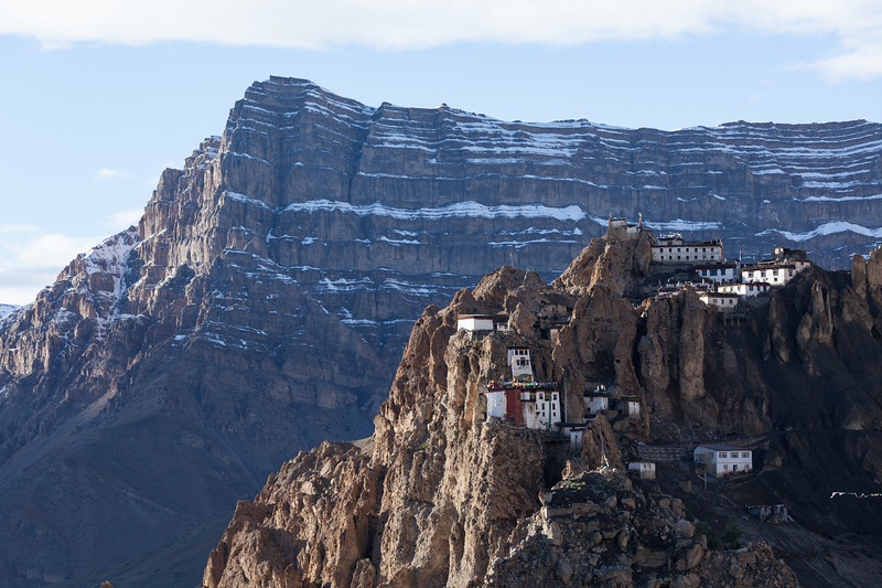 Dhankar Monastery perched on a cliff, Spiti Valley, Himachal Pradesh