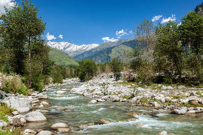 Beas River, near Manali. Kullu Valley, Himachal Pradesh, India