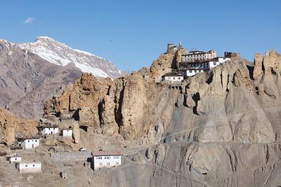Dhankar gompa perched on cliff
