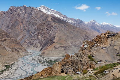 Dhankar Monastery and village, Spiti Valley, Himachal Pradesh