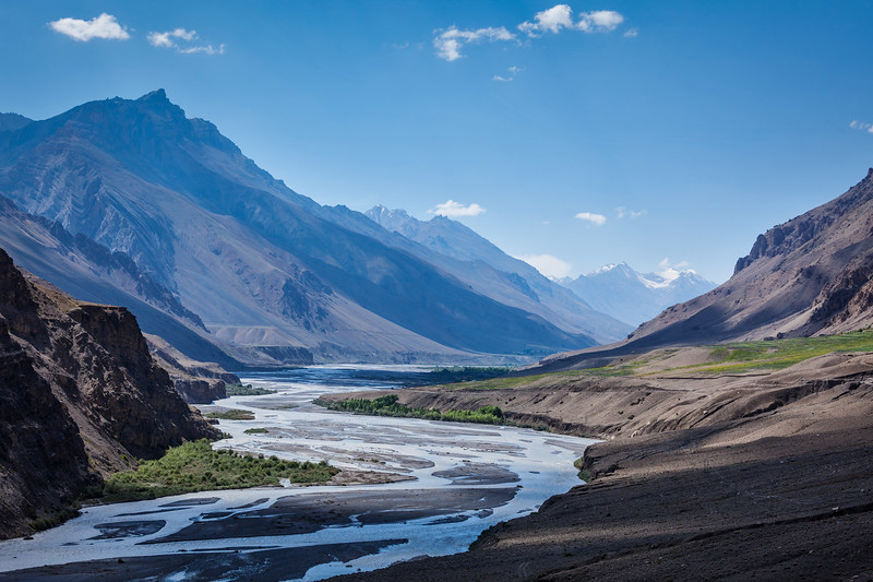Spiti river in Himalayas. Spiti valley, Himachal Pradesh, India