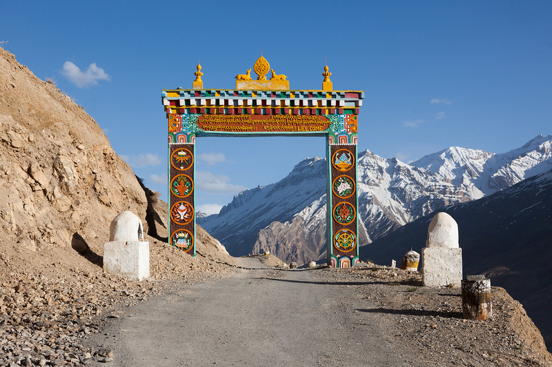 Gates of Ki gompa, Spiti Valley, Himachal Pradesh
