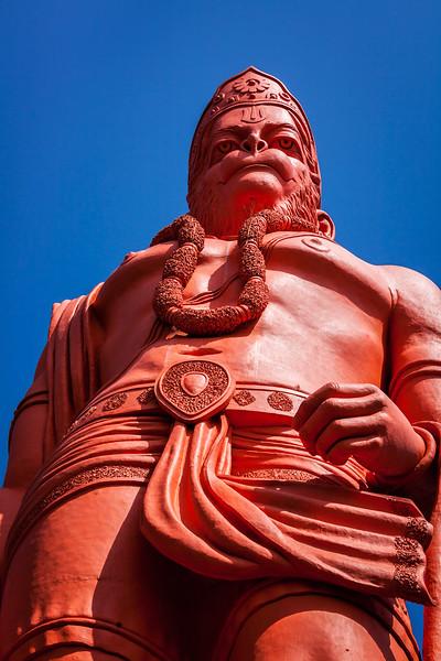 World's tallest statue of Lord Hanuman. Jakhoo Temple, Shimla, Himachal Pradesh, India
