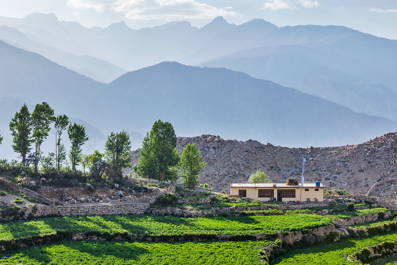 Nako village in Himalayas, Himachal Pradesh, India