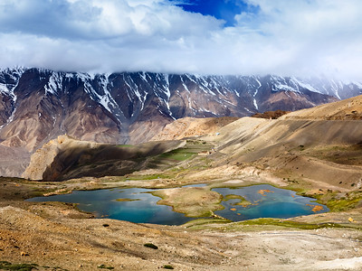 Mountain lakes in Himalayas