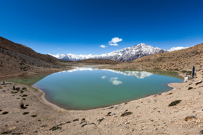 Dhankar Lake. Spiti Valley, Himachal Pradesh, India