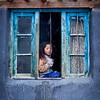 Girl in window