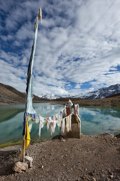 Small gompa at Dhankar Lake