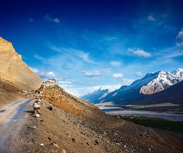 Ki monastery. Spiti Valley, India