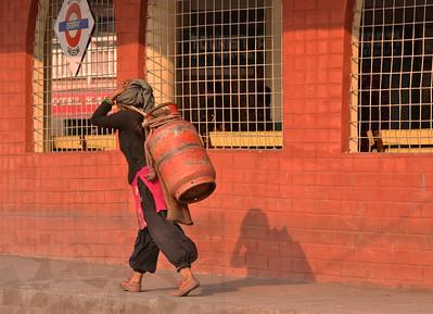 matching colors at Darjeeling railway station