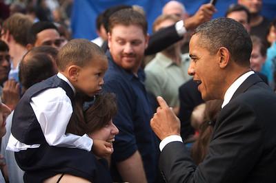 President Obama Meet and Greet US Embassy, New Delhi