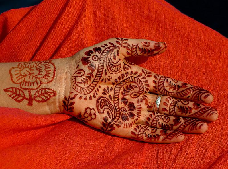 Henna Hand Design,India