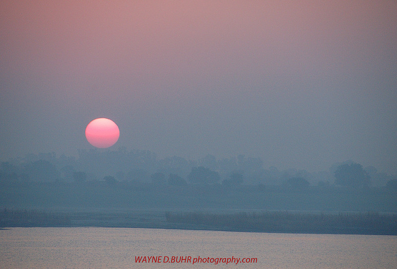 Sunrise over the sacred Ganges,Varanasi,India