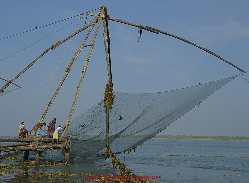 Traditional fishing nets,Kochi,Kerala,India