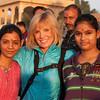 Sally and new friends at Gadisar Lake, Jaisalmer