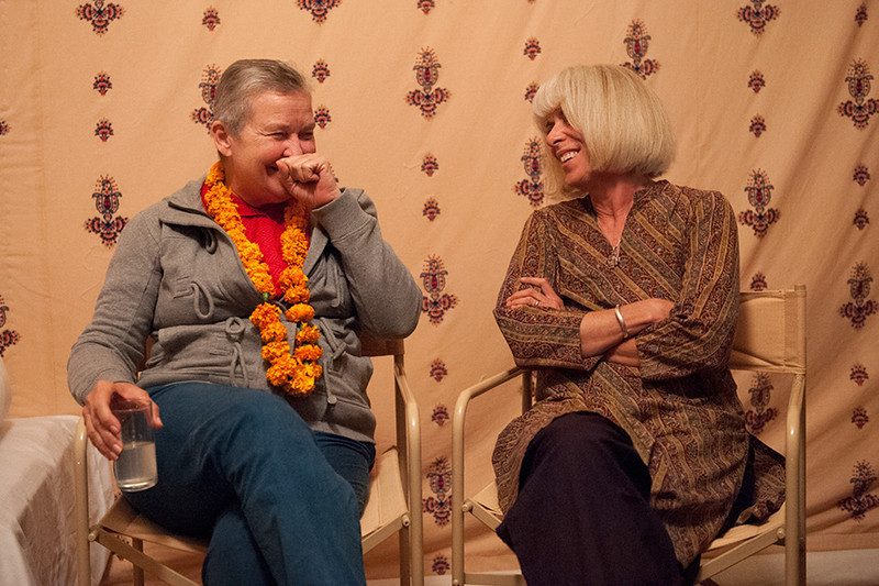 Ambassador Nancy Powell and Nevada Wier, Aagman Camp, Pushkar