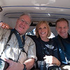 Bob, Sally and John cram into an auto rickshaw in Jodhpur
