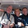Bob, Sally and John cram into an auto rickshaw in Jodhpur