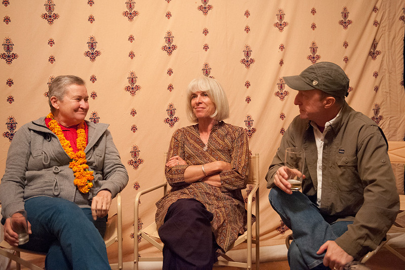 Nancy Powell, Nevada Wier, Karl Grobl at Pushkar