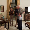 Bunkie, Dv and Janet admire Ambassador Powell's slideshow.