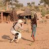 Sally photographing kids near Manvar