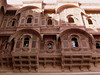 The sculptor's art on palaces within the Mehrangarh fort.
