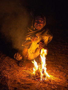 By the campfire in Pushkar