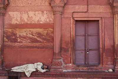 Asleep at the Mosque in Dehli